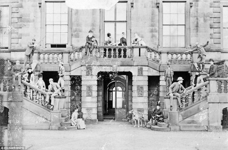 Archivio Iconografico del Verbano Cusio Ossola An Edwardian garden party at Lathom. The mansion's demise was described as 'swift and destructive'