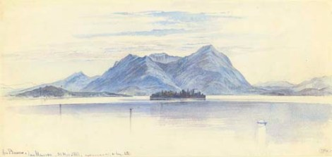 Lago Maggiore from Baveno 30 May 1867 Christie's 16 Nov 2006Archivio Iconografico del Verbano Cusio Ossola Edward Lear