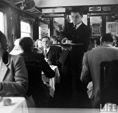 Simplon Orient Express dining car Jack Birns, 1950