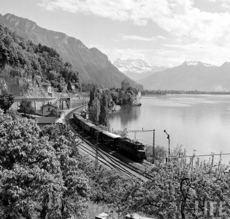 Simplon Sempione treno Orient Express 1950 LIFE Photo Jack Birns 1950 chillon montreux