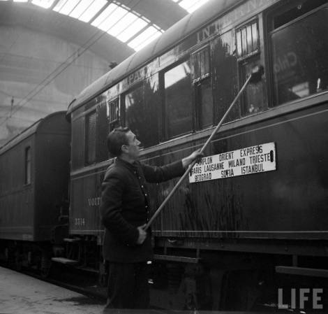 Simplon Sempione treno Orient Express 1950 LIFE Photo Jack Birns 1950 pulizie